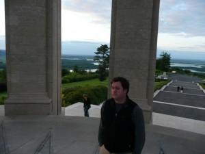Al at Montsec memorial. Van in background
