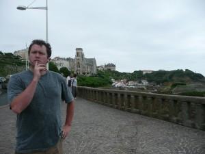 Al in contemplative mood, biarritz