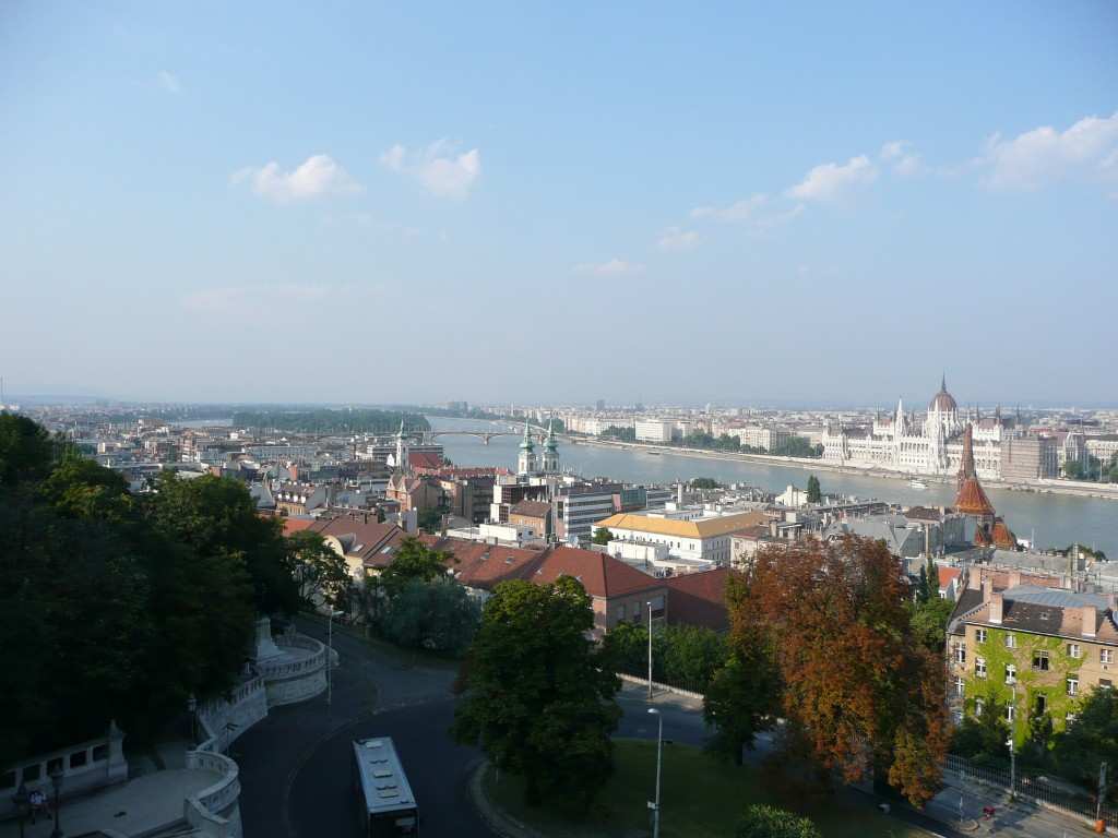 View from Buda Citadelle, towards Pest on the other bank of the Danube